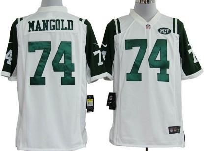nike new york jets 74 nick mangold white game jersey mens green