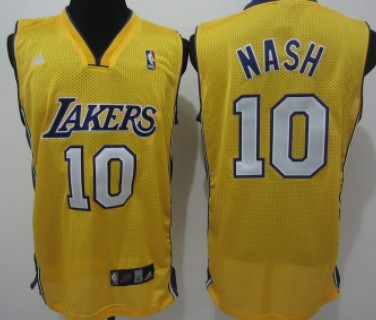 3cb960a8047 ... get revolution 30 swingman home yellow jersey luxurious los angeles  lakers 10 steve nash yellow swingman