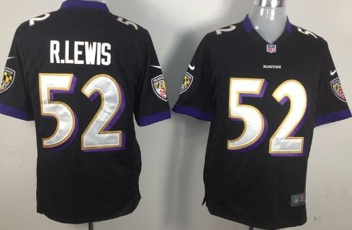 nfl jersey nike baltimore ravens 52 ray lewis black game jersey