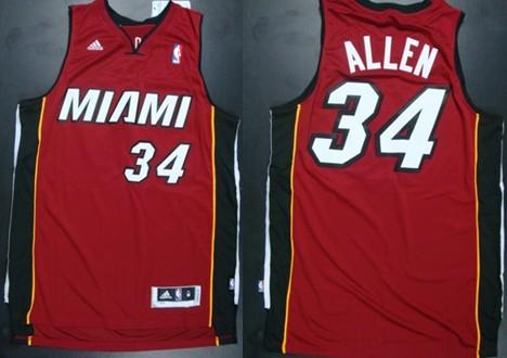 538316e62 ... Jerseys Miami Heat 34 Ray Allen Revolution 30 Swingman Red Jersey ...