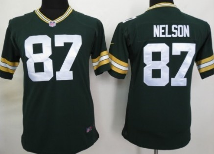 Nike Green Bay Packers  87 Jordy Nelson Green Game Kids Jersey on ... 6acc9ef89