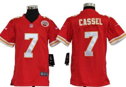 online store feecf f3f83 nike kansas city chiefs 7 matt cassel red game kids jersey