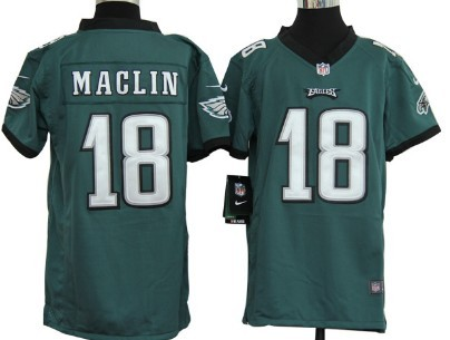 65910ff642f ... Nike Philadelphia Eagles 18 Jeremy Maclin Dark Green Game Kids Jersey  Nike Eagles 10 DeSean Jackson Midnight Green Team Color ...