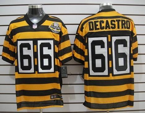 wholesale dealer 900bb ddb3b nike pittsburgh steelers 59 jack ham 1933 yellow throwback ...
