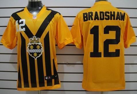 a458aa75b78 Nike Pittsburgh Steelers 43 Troy Polamalu 1933 Yellow Throwback Jersey Nike Pittsburgh  Steelers 12 Terry Bradshaw 1933 Yellow Throwback Jersey ...