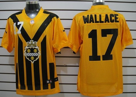 c64421260 Nike Pittsburgh Steelers 17 Mike Wallace 1933 Yellow Throwback Jersey ...