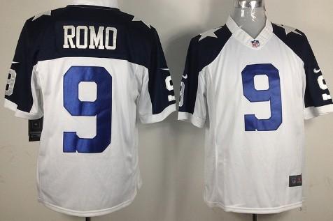newest ef4fc c30c4 nike dallas cowboys 9 tony romo white thanksgiving elite jersey