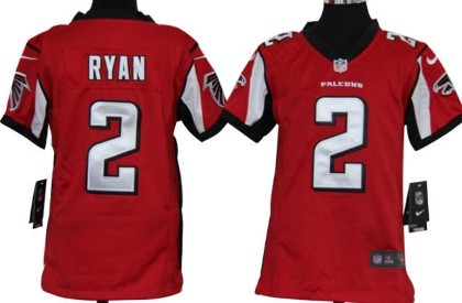 nike atlanta falcons 2 matt ryan red game kids jersey