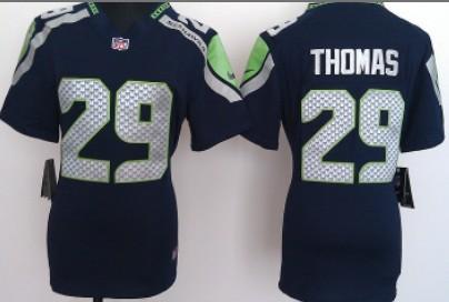 half off 91730 8185a Nike Seattle Seahawks #29 Earl Thomas White Game Womens ...