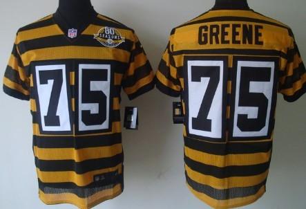 ... Nike Pittsburgh Steelers 75 Joe Greene Yellow With Black Throwback 80TH  Jersey ... e95c56d0a