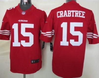 huge discount b3925 45e71 nike san francisco 49ers 15 michael crabtree white limited ...