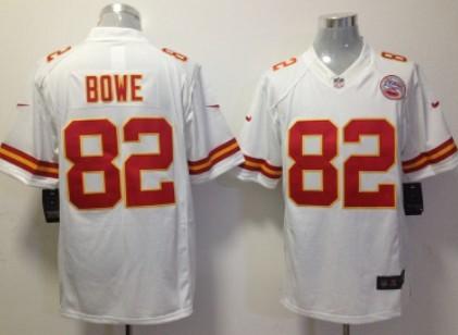 nike kansas city chiefs 82 dwayne bowe white limited jersey