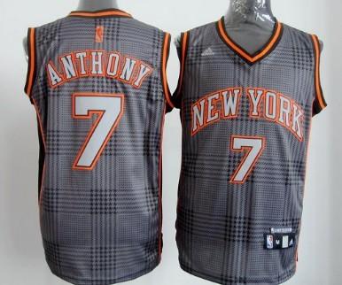 new york knicks 7 carmelo anthony black rhythm fashion jersey