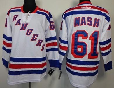... New York Rangers 61 Rick Nash White Jersey ... ec932eed37c0