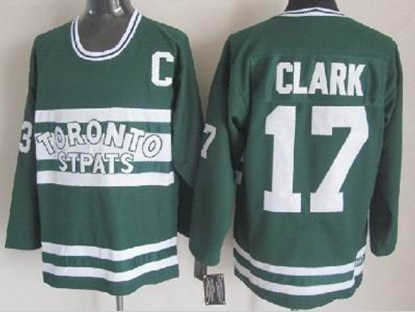 Toronto Maple Leafs  17 Wendel Clark Green Throwback CCM Jersey 8b177a93d