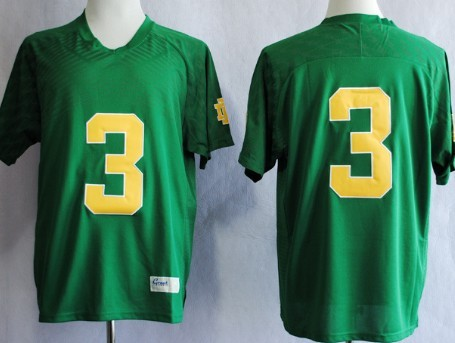 Notre Dame Fighting Irish #3 Joe Montana 2013 Green Jersey
