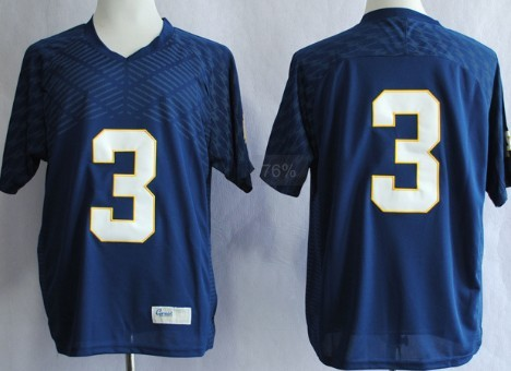 Notre Dame Fighting Irish #3 Joe Montana 2013 Navy Blue Jersey
