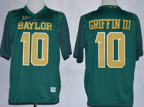 Baylor Bears #10 Robert Griffin III 2013 Green Jersey