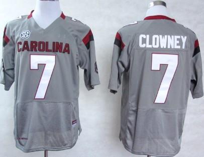 South Carolina Gamecocks #7 Jadeveon Clowney 2013 Gray Jersey
