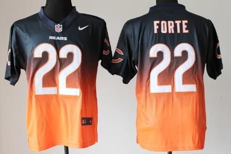 a01bfbd1 Nike Chicago Bears #54 Brian Urlacher Blue/Orange Fadeaway Elite ...