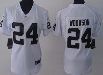 sale retailer 22000 050c0 nike oakland raiders 24 charles woodson white game kids jersey