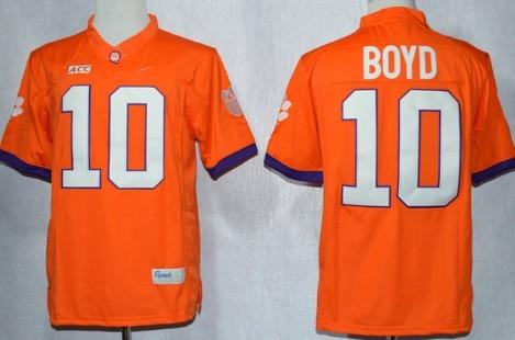 Clemson Tigers #10 Tajh Boyd 2013 Orange Limited Jersey