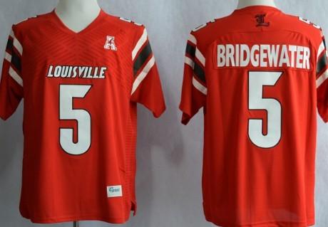 Louisville Cardinals #5 Teddy Bridgewater Red Jersey