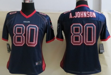 Nike Houston Texans  99 J.J. Watt Drift Fashion Blue Womens Jersey ... d03572b92
