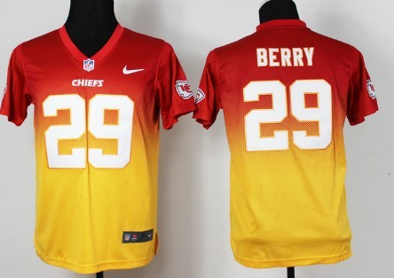 sports shoes b71e1 b3016 nike kansas city chiefs 25 jamaal charles red yellow ...