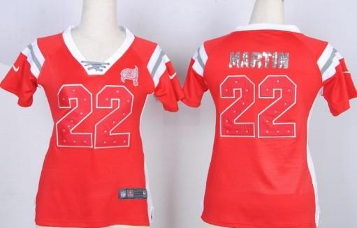 68236ec5263 Nike Tampa Bay Buccaneers 22 Doug Martin Drilling Sequins Red Womens Jersey  ...