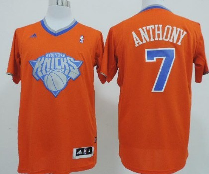 f157bd26784 ... New York Knicks 7 Carmelo Anthony Revolution 30 Swingman 2013 Christmas  Day Orange Jersey New York Knicks 8 J.R. Smith ...