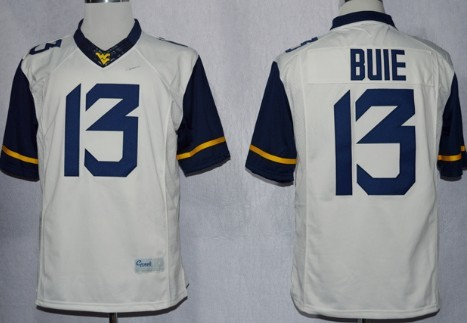 West Virginia Mountaineers #13 Andrew Buie 2013 White Limited Jersey