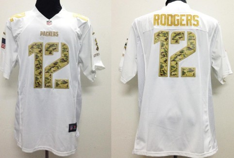 nike green bay packers 12 aaron rodgers salute to service white game jersey 50d5329f6