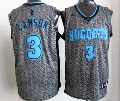 ... Denver Nuggets 3 Ty Lawson Gray Static Fashion Jersey ... bbc694fab
