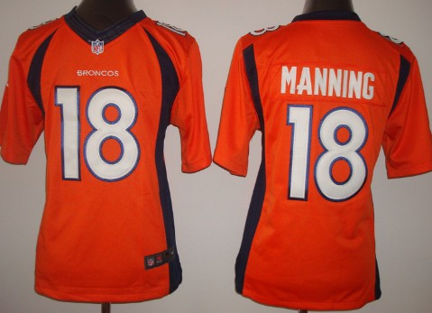 9c05dc359 ... Style Nike Denver Broncos 18 Peyton Manning 2013 Orange Limited Kids  Jersey ...