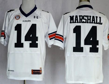 Auburn Tigers #14 Nick Marshall White Jersey
