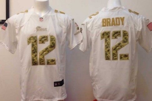 3904d2ef7 nike new england patriots 12 tom brady salute to service white game jersey