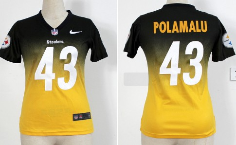 314b6824adc ... coupon for black handwork sequin lettering fashion nfl jerseys nike  pittsburgh steelers 43 troy polamalu blackyellow