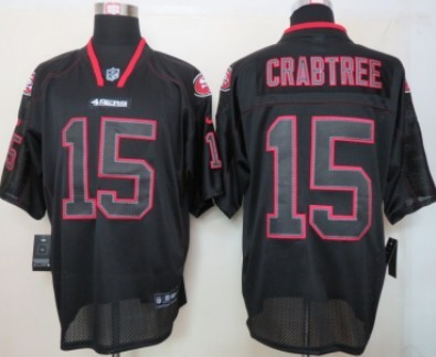 Nike San Francisco 49ers  15 Michael Crabtree Lights Out Black Elite Jersey 61fd22dc1