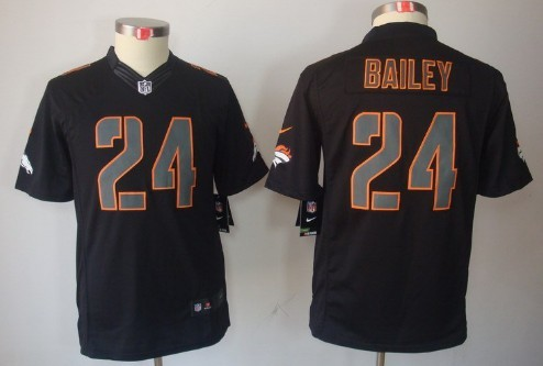 save off a39bb e5c98 nike denver broncos 24 champ bailey black impact limited jersey