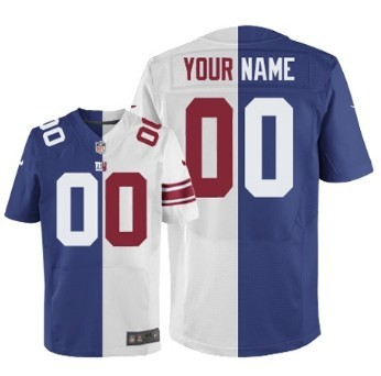 ... Mens Nike New York Giants Customized BlueWhite Two Tone Elite Jersey ... 9b7a33c2a