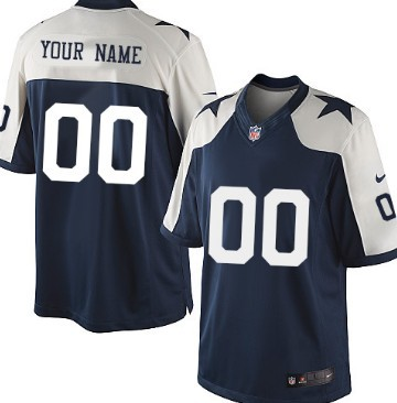 4cf60acca ... Mens Nike Dallas Cowboys Customized Blue Thanksgiving Limited Jersey  Womens ...
