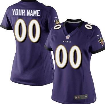 06d39e88198 Women s Nike Baltimore Ravens Customized Purple Limited Jersey on ...