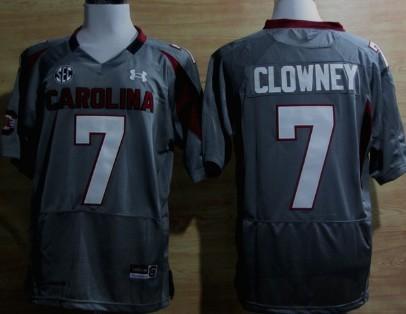 South Carolina Gamecocks #7 Jadeveon Clowney Gray Jersey