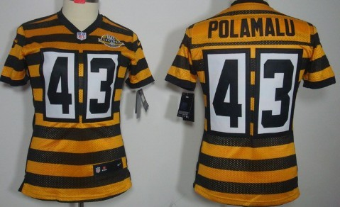 1657db0a8 ... best nike pittsburgh steelers 43 troy polamalu yellow with black  throwback 80th womens jersey nfl pittsburgh