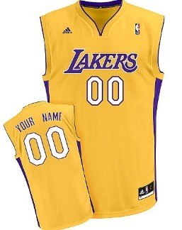 brand new 139d2 4df08 kids los angeles lakers customized yellow jersey