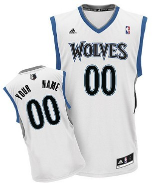 ... Blue Replica Road Jersey Mens Minnesota Timberwolves Customized White  Jersey ... 5b1ef0d4f