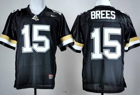PPurdue Boilermakers #15 Drew Brees Black Jersey