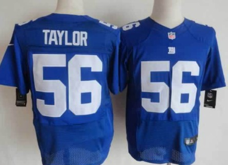c862c646df1 Nike New York Giants  56 Lawrence Taylor Blue Elite Jersey on sale ...