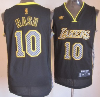 769ba1948 ... 2012 Vibe Black Fashion Jersey Los Angeles Lakers 10 Steve Nash Black  Electricity Fashion Jersey ...